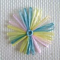 China Flower & Bow variegated daisy 8cm wholesale