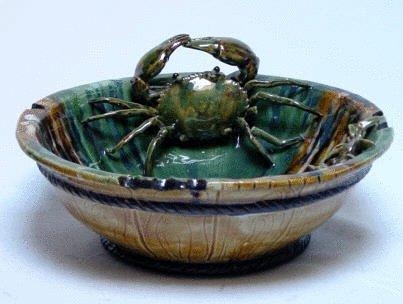 "Quality 14""d. bowl with crabs for sale"