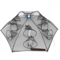 China Sports & Outdoor Umbrella style Portable Foldable Fishing Trap Cast Net Shrimp Cage with 12 Holes on sale