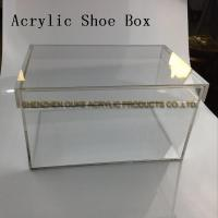 China Acrylic Manufacturer Clear Acrylic Display Case For Shoe Box Plexiglass Display Box on sale