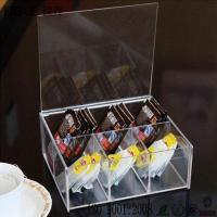 China High Quality Acrylic Tea Bag Box Tea Holder Box with 6 Compartments on sale