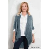 China Simply Noelle Bum flip wrap jacket ash gray or fern green one size wholesale