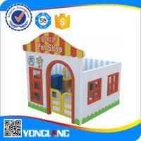 China rubber mat wooden playground toy wholesale