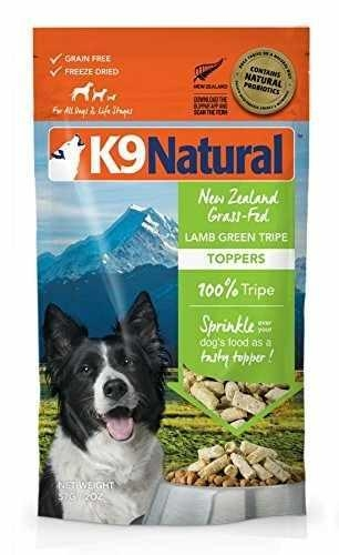 Quality K9 Natural Freeze Dried Topper Lamb Green Tripe 2oz for sale