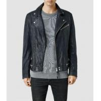 Buy cheap Men's Lamb Biker Jackets With Zipper Closed from wholesalers