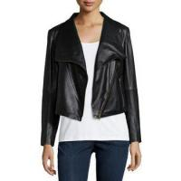 Buy cheap Women Leather Jackets With Lapel from wholesalers