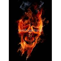 China Canvas prints Water-proof canvas printing of fiery skull wholesale