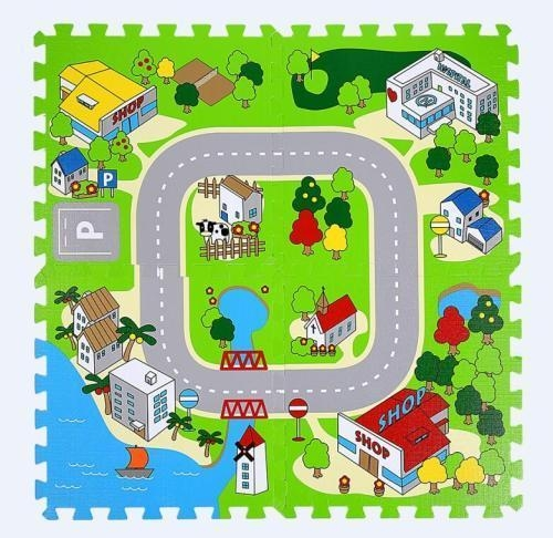 Quality Mall city interactive road map creative educational learning play mat Admin Edit for sale