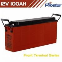 Buy cheap 1 Prostar rechargeable deep cycle solar battery 12v 100ah front terminal for solar power system from wholesalers