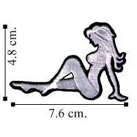 Automobile Sexy Embroidered Trucker Mudflap Girl Embroidered Sew On Patch