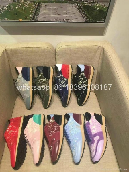 Quality Wholesale newest Sneaker High Quality Original Valentino genuine leather shoes for sale