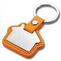 China Laser Engraved Business Metal and Leather House Key Fobs HK-002 wholesale