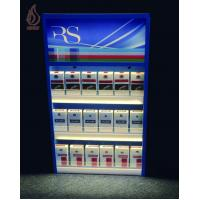 Buy cheap Display Stands Custom Metal cigarette display with LED lights and pusher system from wholesalers