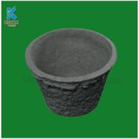 Buy cheap Creative paper pulp garden flower pots biodegradable flower planter from wholesalers