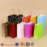 China Recycled Kraft Gift Paper Bag With Logo wholesale