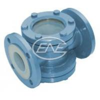 China Diaphragm Valve Straight-through Fluorine Lined Visual Glass wholesale