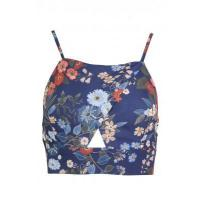 Buy cheap LOVE Strap Crossover Top In Navy & Orange Floral from wholesalers