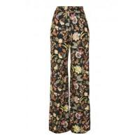 Buy cheap LOVE Black Floral Trousers from wholesalers