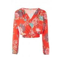 Buy cheap LOVE Wrap Over Top In Festival Print from wholesalers