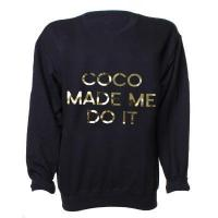 LOVE Black And Gold 'Coco Made Me do it' Sweater KNITWEAR