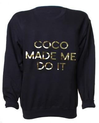 Quality LOVE Black And Gold 'Coco Made Me do it' Sweater KNITWEAR for sale
