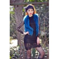 China JJ15108 LADY'S VEST IN KNITTED RACCOON FUR wholesale