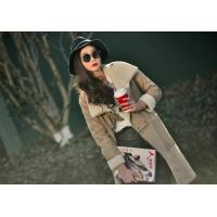 JJ1502 LADY'S LONG COAT IN FAKE DOUBLE FACE FUR