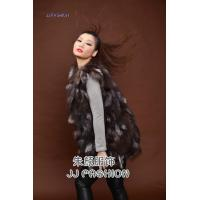 China JJ15101 LADY'S LONG VEST IN SILVER FOX FUR wholesale