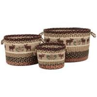 China Moose & Pinecone Braided Utility Baskets on sale
