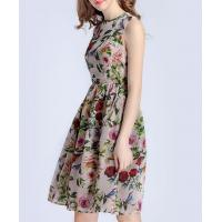 Buy cheap Clothing Rose printed organza dress from wholesalers