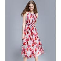 Buy cheap Clothing Crepe silk crinkle Floral printed maxi dress from wholesalers
