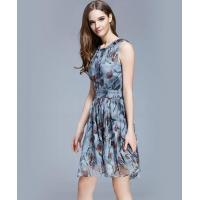 Buy cheap Clothing Crepe silk crinkle Floral printed dress from wholesalers