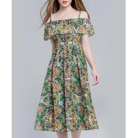 Buy cheap Clothing Floral printed silk linen dress from wholesalers