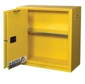 Quality Justrite Flammable Liquid Storage Cabinets Self Closing Sliding Door for sale