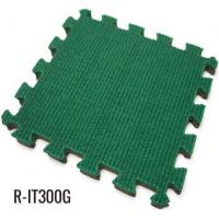China Green 13mm Playground Interlocking Rubber Floor Tiles wholesale