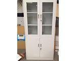Quality New Creative KD Structure Customized Two Section Glass Door Cabinet Manufacuturer Produce for sale