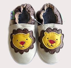 Quality Baby Cowskin shoes (Yellow Lion) for sale