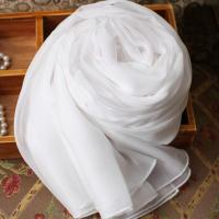 China Pure White Silk Scarves For Painted wholesale
