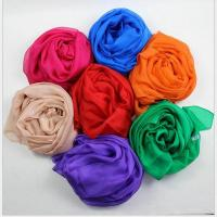 China Multicolor Silk Chiffon Scarves 100% nature mulberry silk scarf for summer shawl and travel wholesale