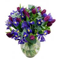 China Mother's Day Flowers Iris & Tulips Bouquet wholesale