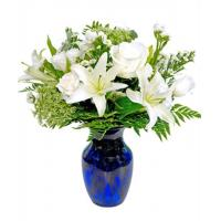 China Get Well Flowers White Bouquet Guernsey Fresh Flowers 28.50 23.50 White Bouquet wholesale