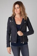 Quality Women's leather jacket /100% lamb leather jacket black jacket for sale