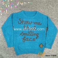 China Kids Crew Neck Long Sleeves Pullover Sweater on sale
