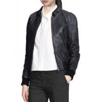 Buy cheap Leather Jacket Bomber Jacket For Women Snap Button Collar from wholesalers