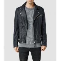 Leather Jacket Men's Lamb Biker Jackets With Zipper Closed