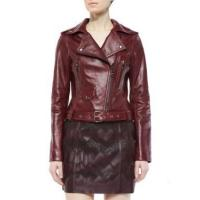 China Leather Jacket Women Waxed Leather Jackets With Zipper wholesale