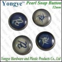 China Custom logo pearl snap button for clothing on sale