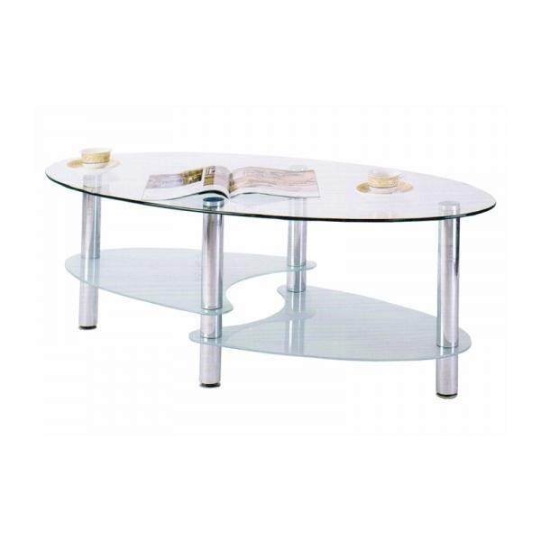 Oval Coffee Table With Metal Legs