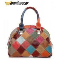Buy cheap Korean edition hit color handbags for women,genuine leather handbags,single shoulder bag from wholesalers