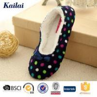 China Dance Shoes Printed Coral Fleece Bowknot Dance Shoes wholesale
